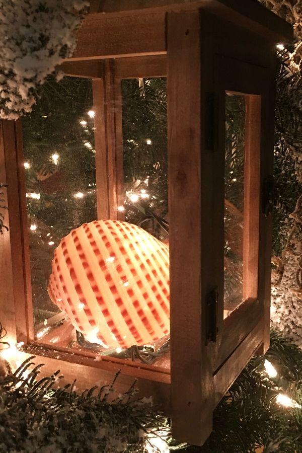 Nautical Christmas Tree Shell Lanterns