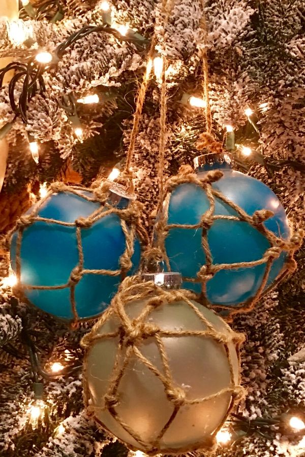 Nautical Christmas tree glass fishing floats