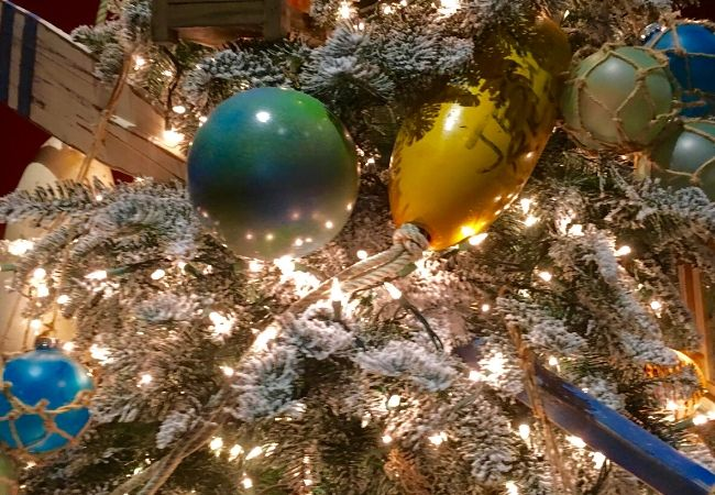 Nautical Themed Christmas Trees Oars