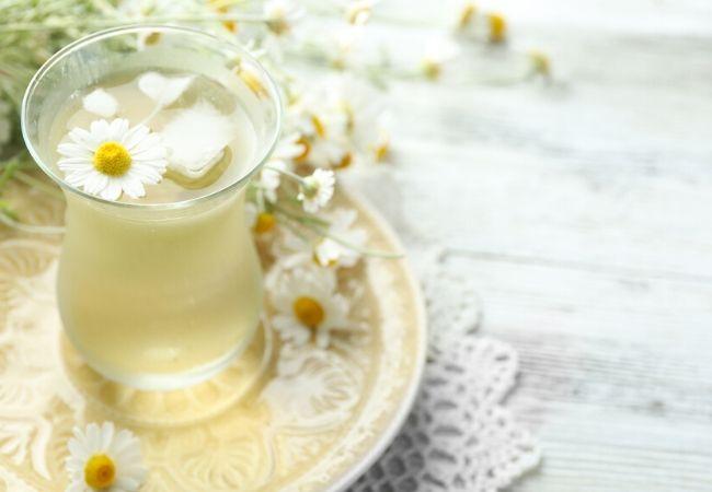 Chamomile tea from tea garden