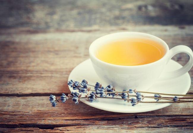 Lavender tea from garden tea