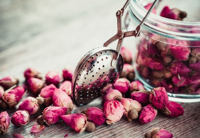 Rose buds for garden tea
