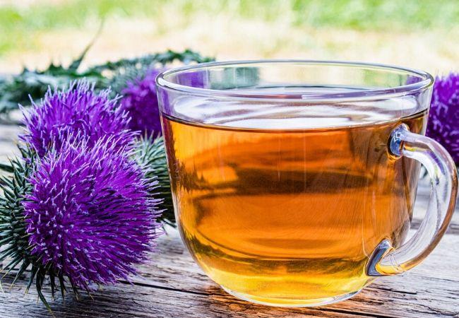Thistle tea from tea garden