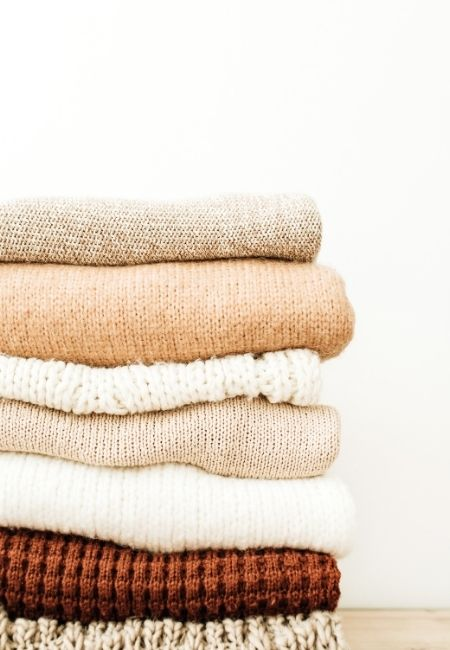 Minimalist Clothing - Stack of Sweaters