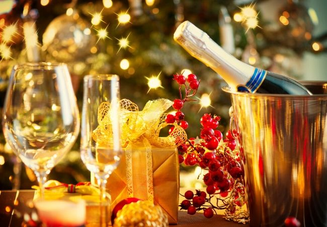 New Year's Champagne Toast